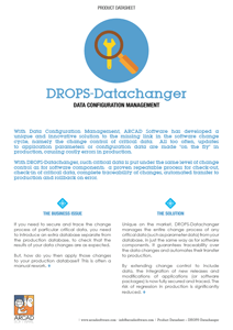 DROPS Datachanger Datasheet