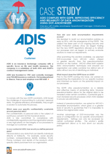 Success Story ADIS DOT Anonymizer